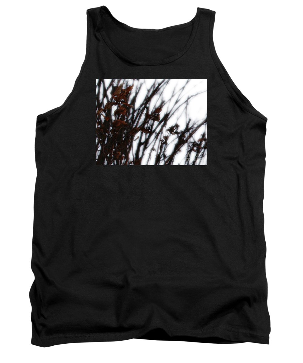 Reeds Tank Top featuring the photograph Remnant by Linda Shafer