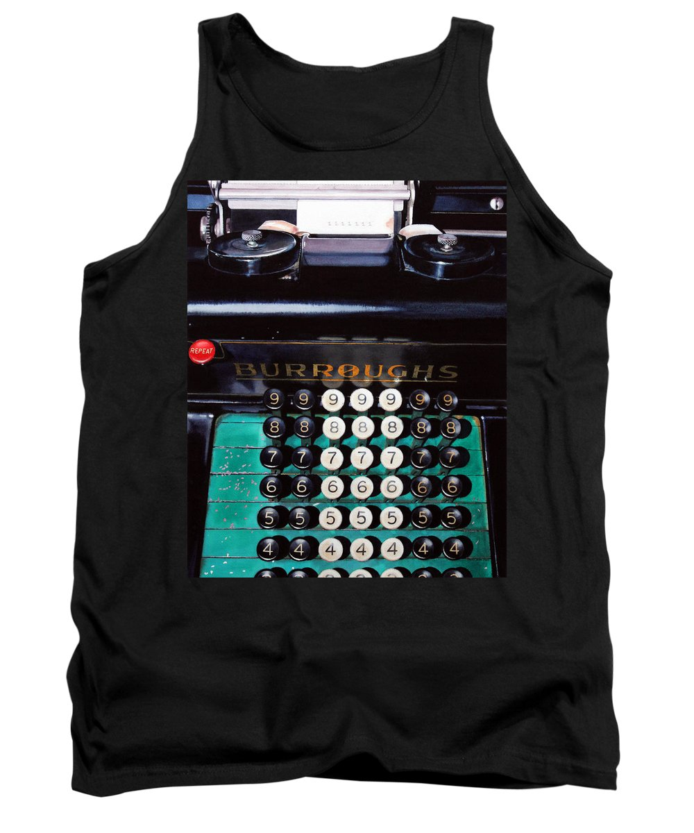 Adding Machine Tank Top featuring the painting Repeat by Denny Bond