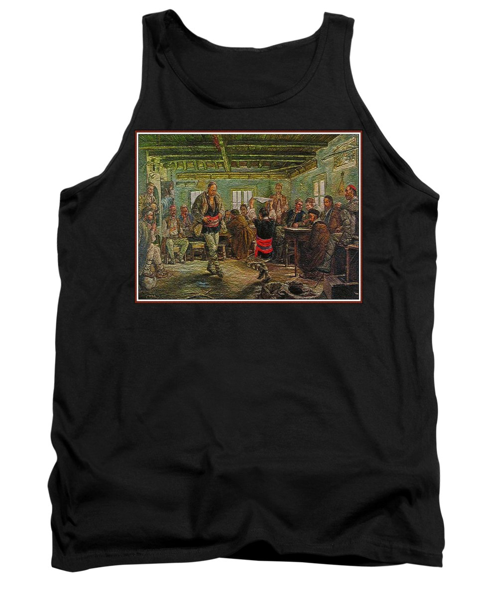 Impressionism Tank Top featuring the painting replica of Ruchenitsa by Nikola Tanev by Pemaro
