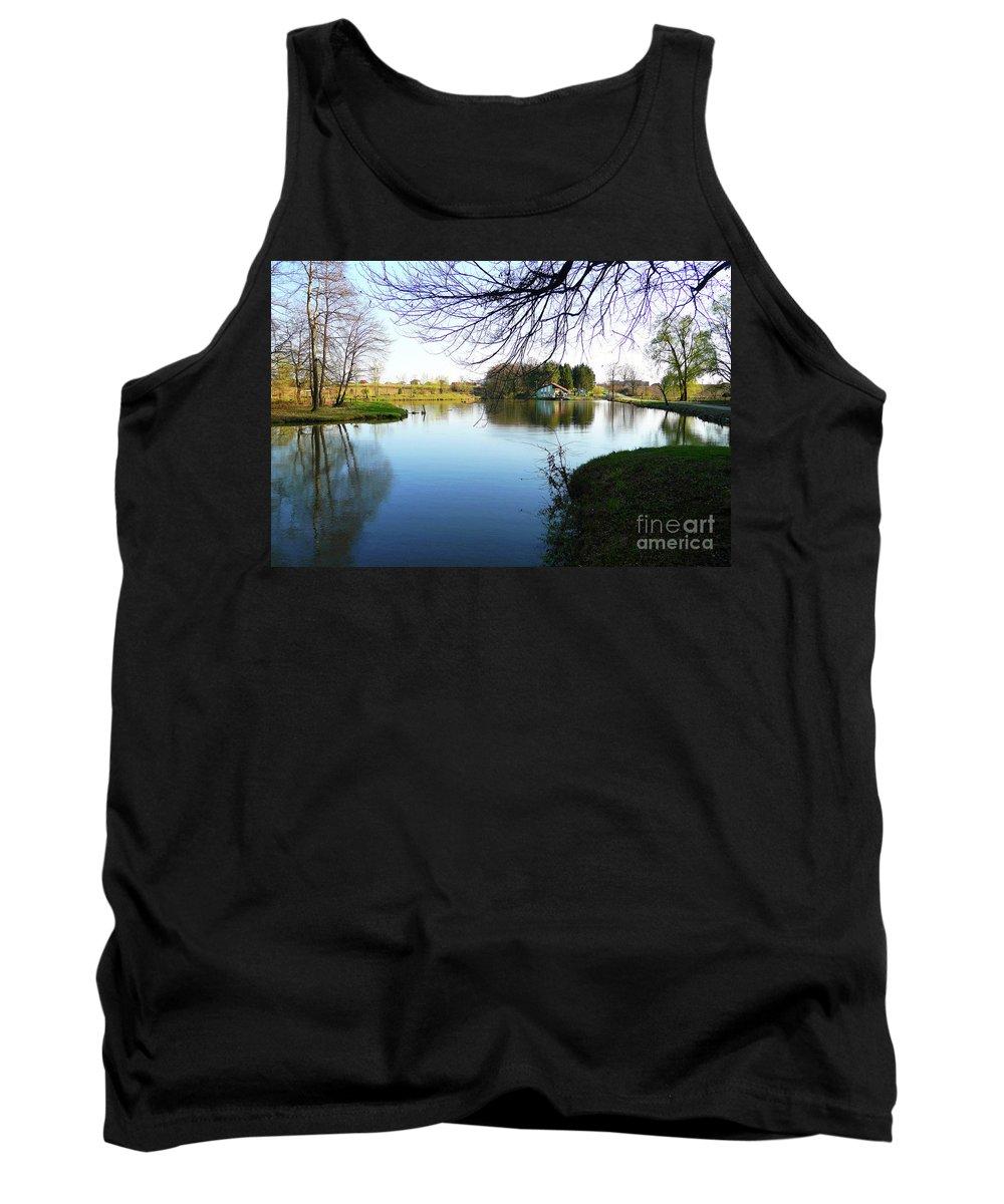 Pond Tank Top featuring the photograph Resort Bara - Bilogora No 8 by Jasna Dragun