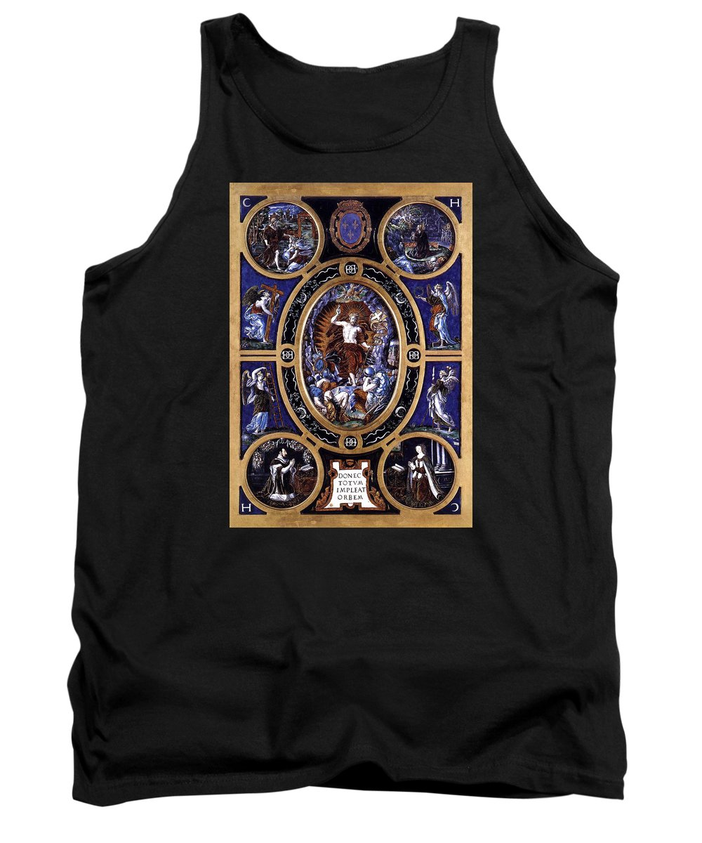 L�onard Limosin Tank Top featuring the mixed media Resurrection by Roy Pedersen