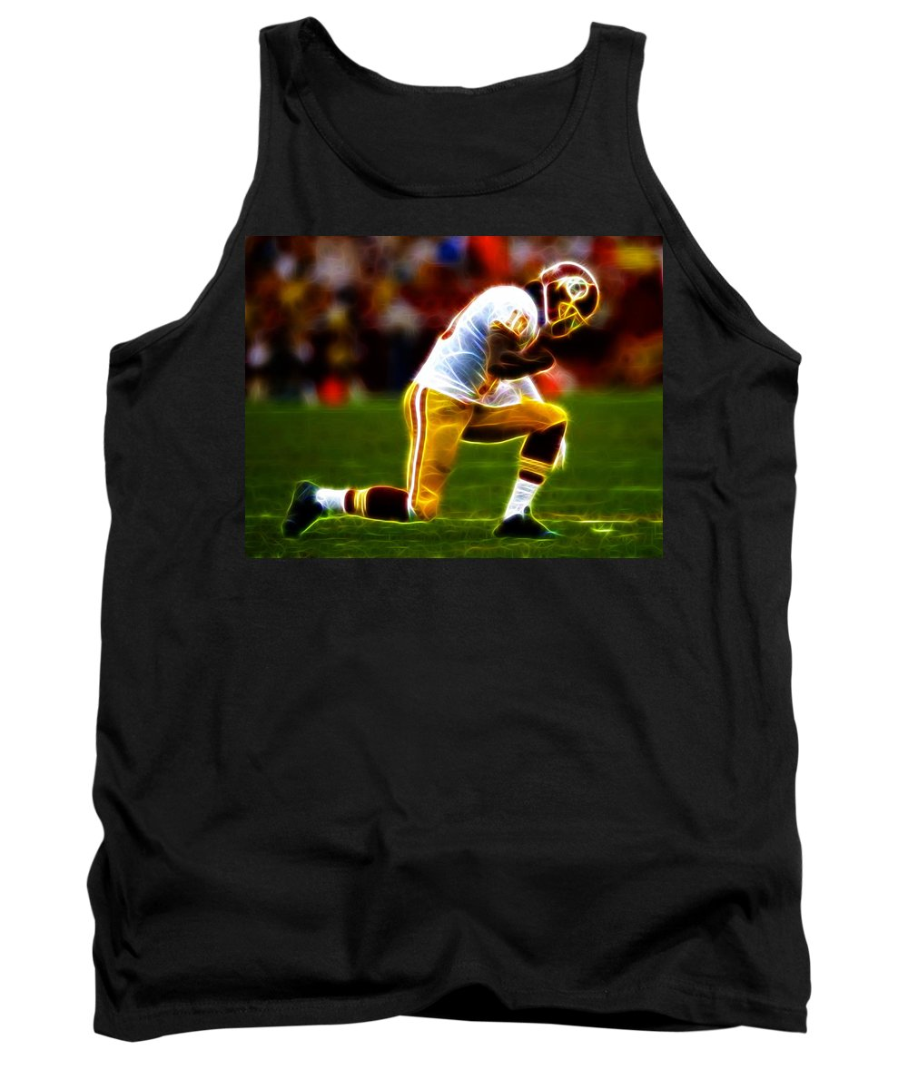Rg3 Tank Top featuring the painting Rg3 Silent Celebration by Paul Van Scott