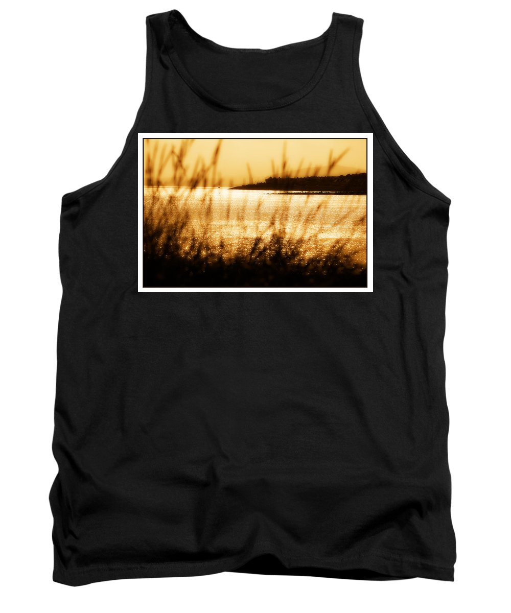Rhos Tank Top featuring the photograph Rhos Point Viewed Through Beach Grass by Mal Bray