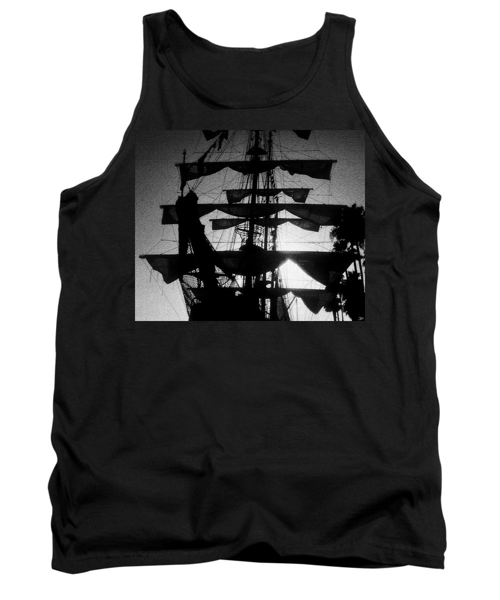Sailing Ship Tank Top featuring the painting Rigging And Sail by David Lee Thompson