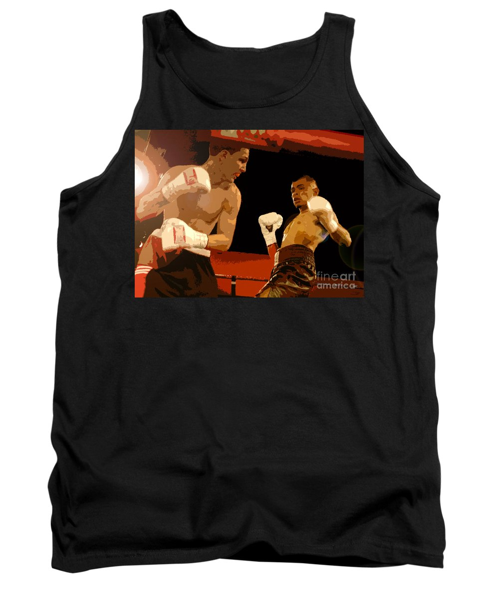 Art Tank Top featuring the painting Ringside by David Lee Thompson