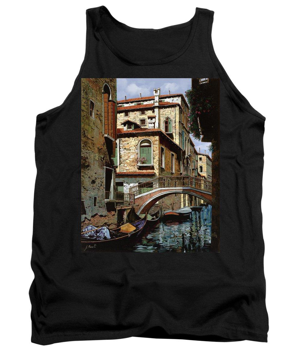 Venice Tank Top featuring the painting Rio Degli Squeri by Guido Borelli