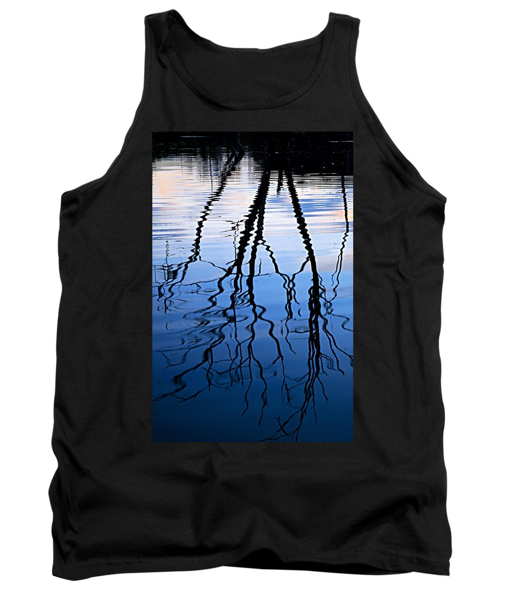 Chester Woods County Park Tank Top featuring the photograph Rippled Reflections by Larry Ricker