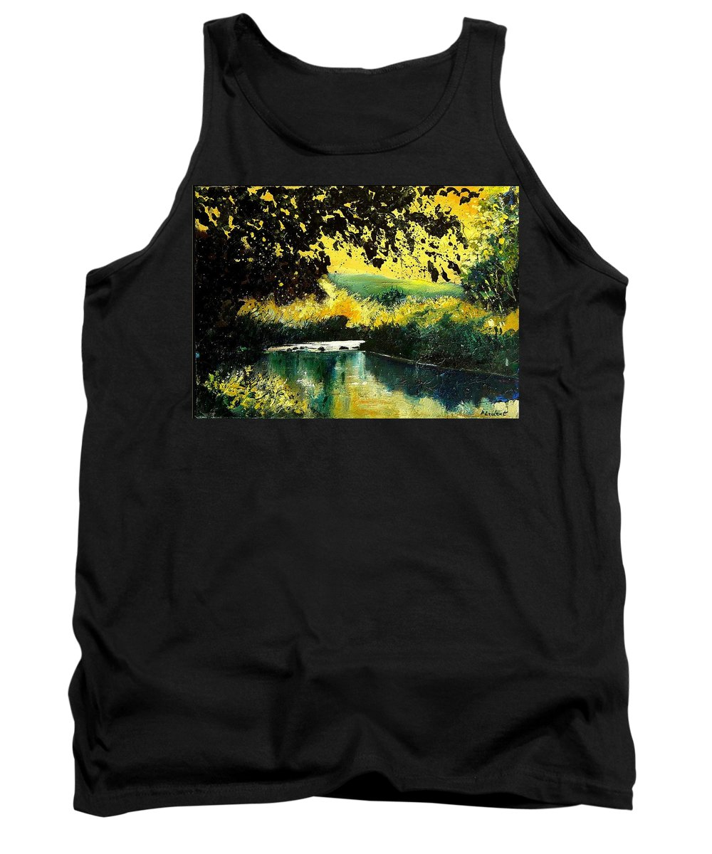 River Tank Top featuring the painting River Houille by Pol Ledent