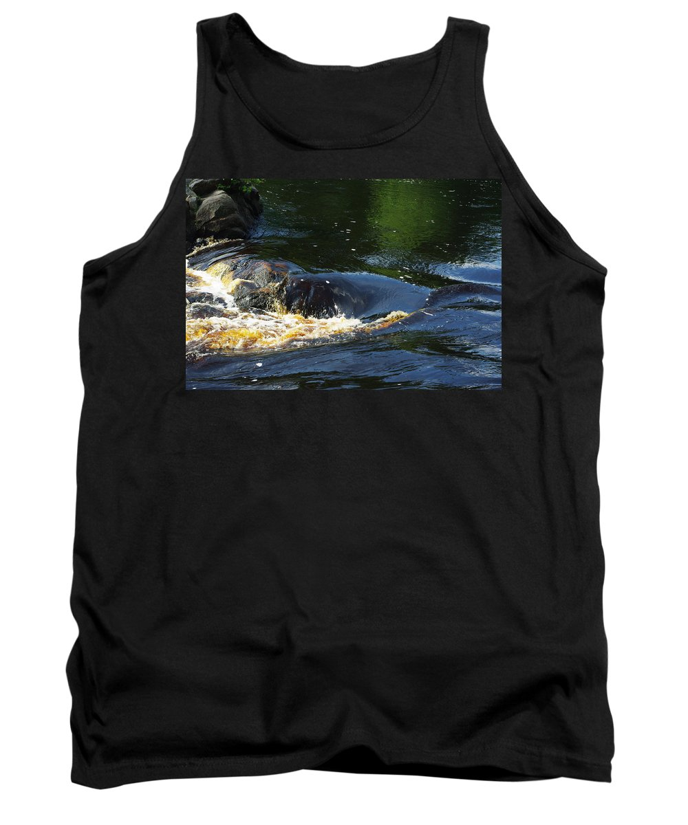 Rocks Tank Top featuring the photograph River On The Rocks II by Alice Markham