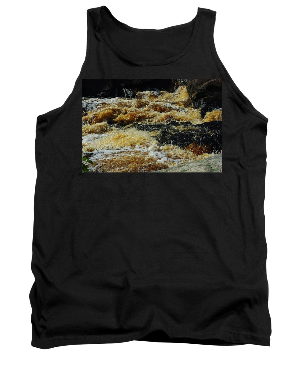 Rocks Tank Top featuring the photograph River On The Rocks IIi by Alice Markham
