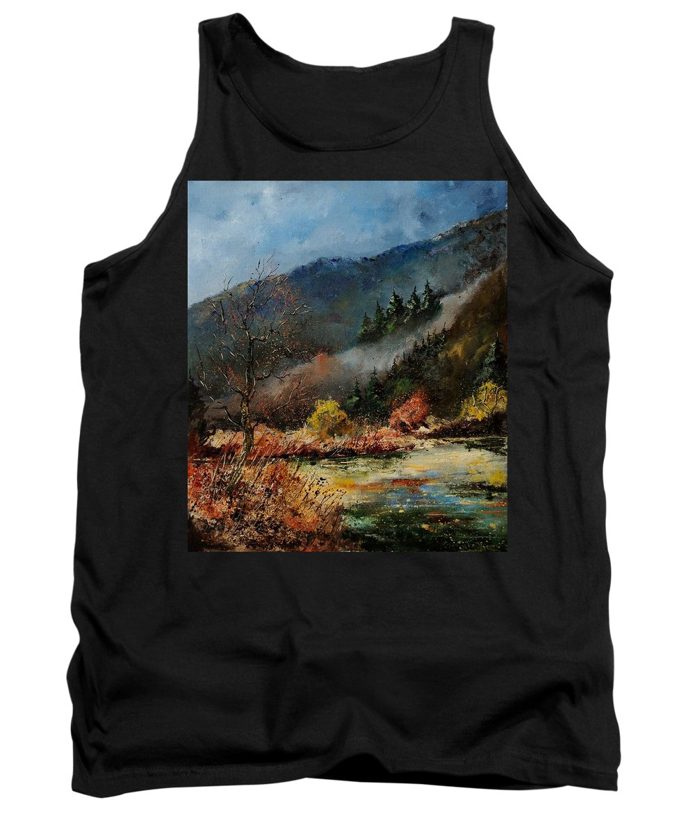River Tank Top featuring the painting River Semois by Pol Ledent
