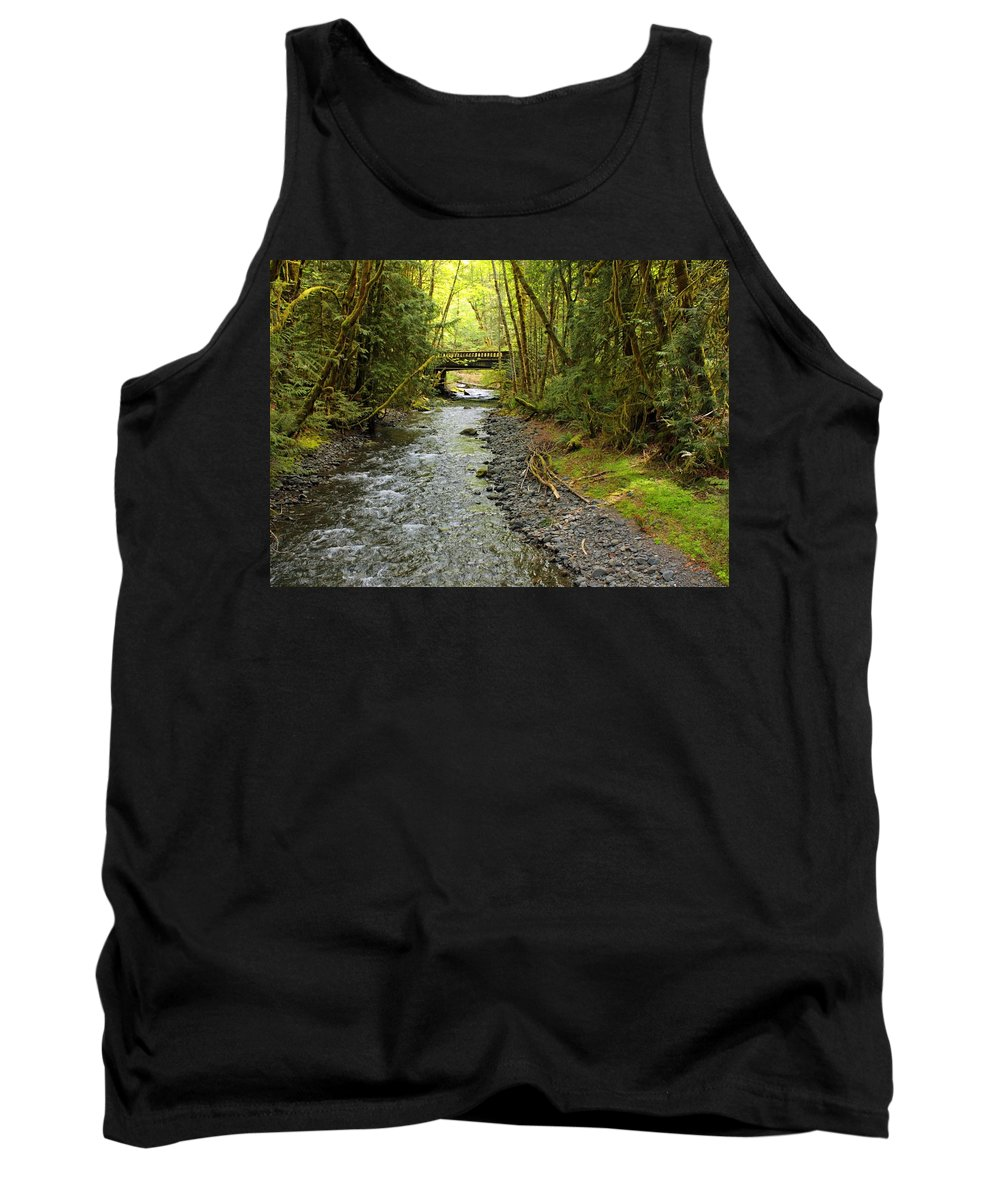 Landscape Tank Top featuring the photograph River Through The Rainforest by Carol Groenen