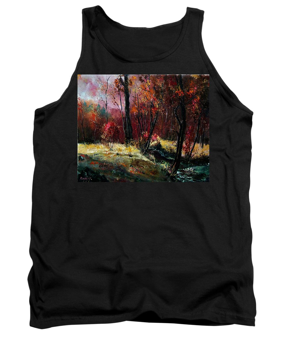 River Tank Top featuring the painting River Ywoigne by Pol Ledent
