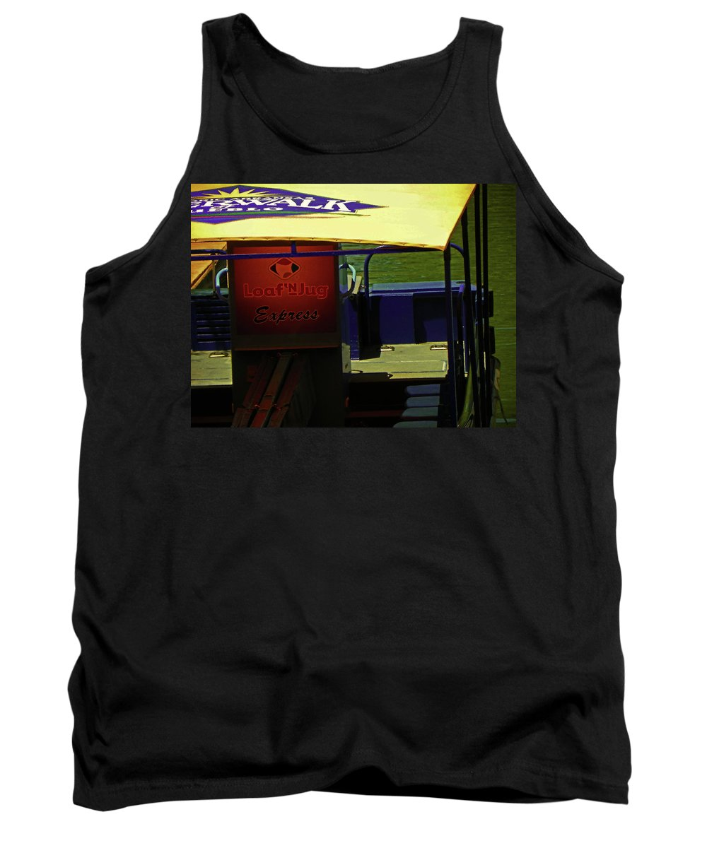 Abstract Tank Top featuring the photograph Riverboat Express by Lenore Senior