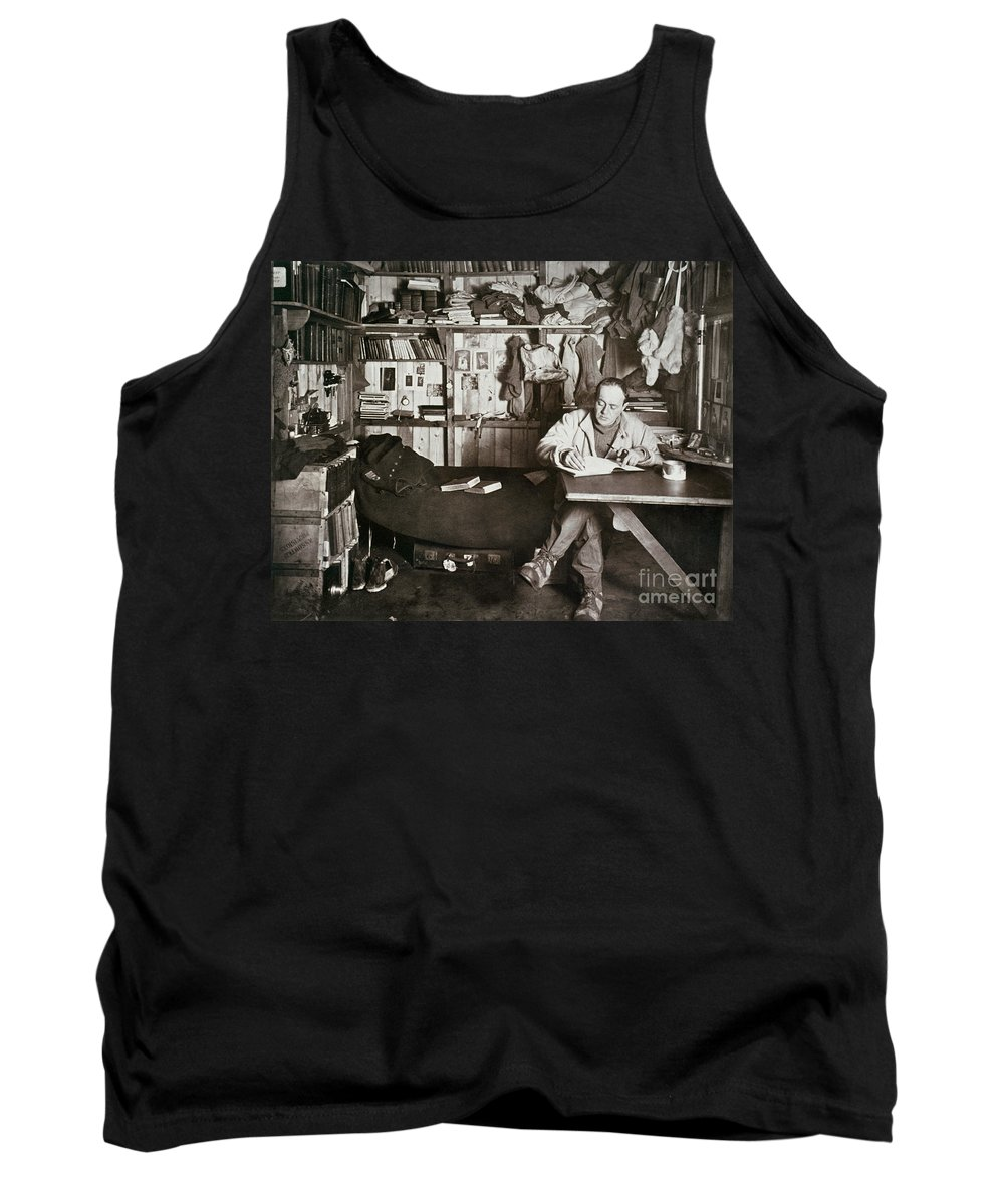 1911 Tank Top featuring the painting Robert Falcon Scott by Granger