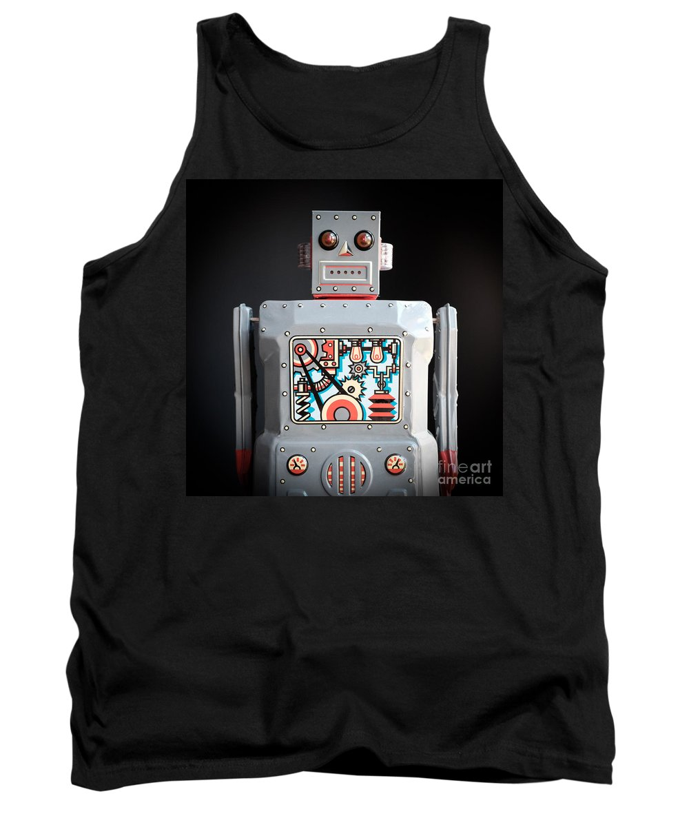 Spread Tank Top featuring the photograph Robot R-1 Square by Edward Fielding