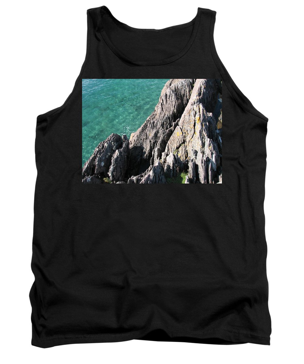 Kerry Tank Top featuring the photograph Rocks Of Kerry by Kelly Mezzapelle