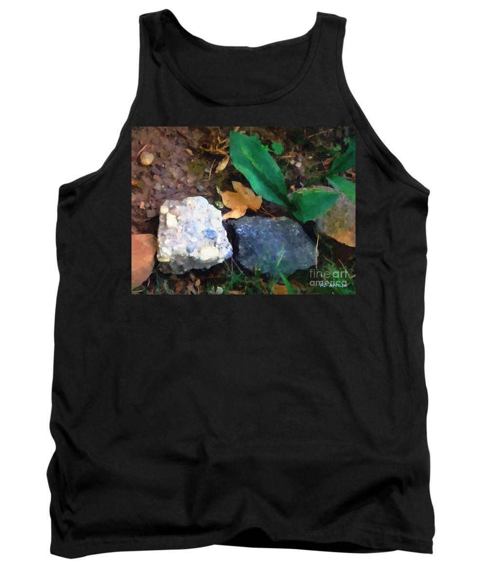 Connecticut Tank Top featuring the painting Rocky Ground by RC DeWinter