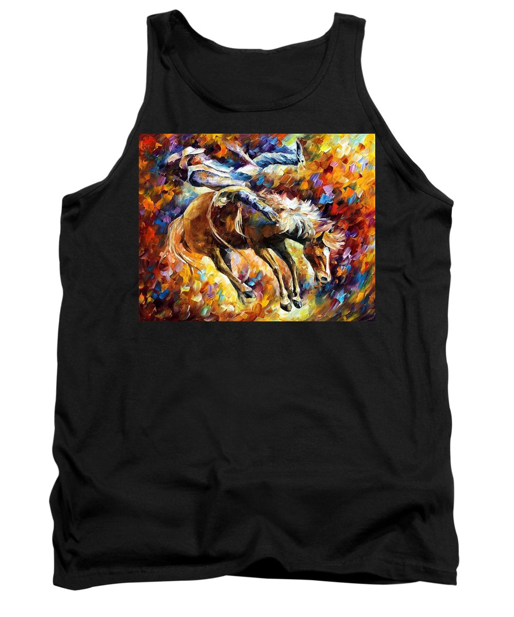 Afremov Tank Top featuring the painting Rodeo by Leonid Afremov