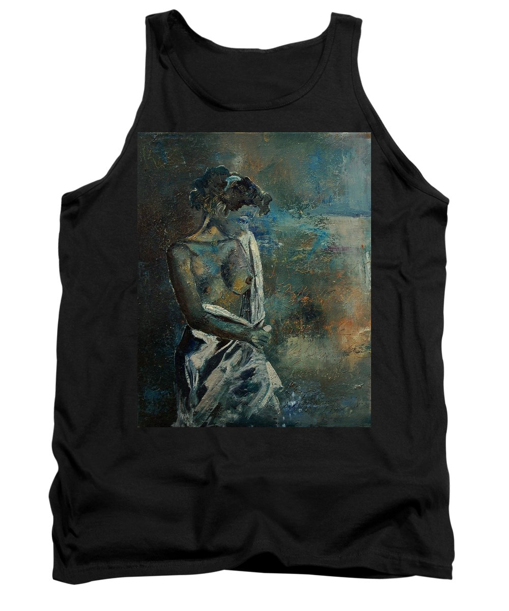Nude Tank Top featuring the painting Roman Nude 45 by Pol Ledent