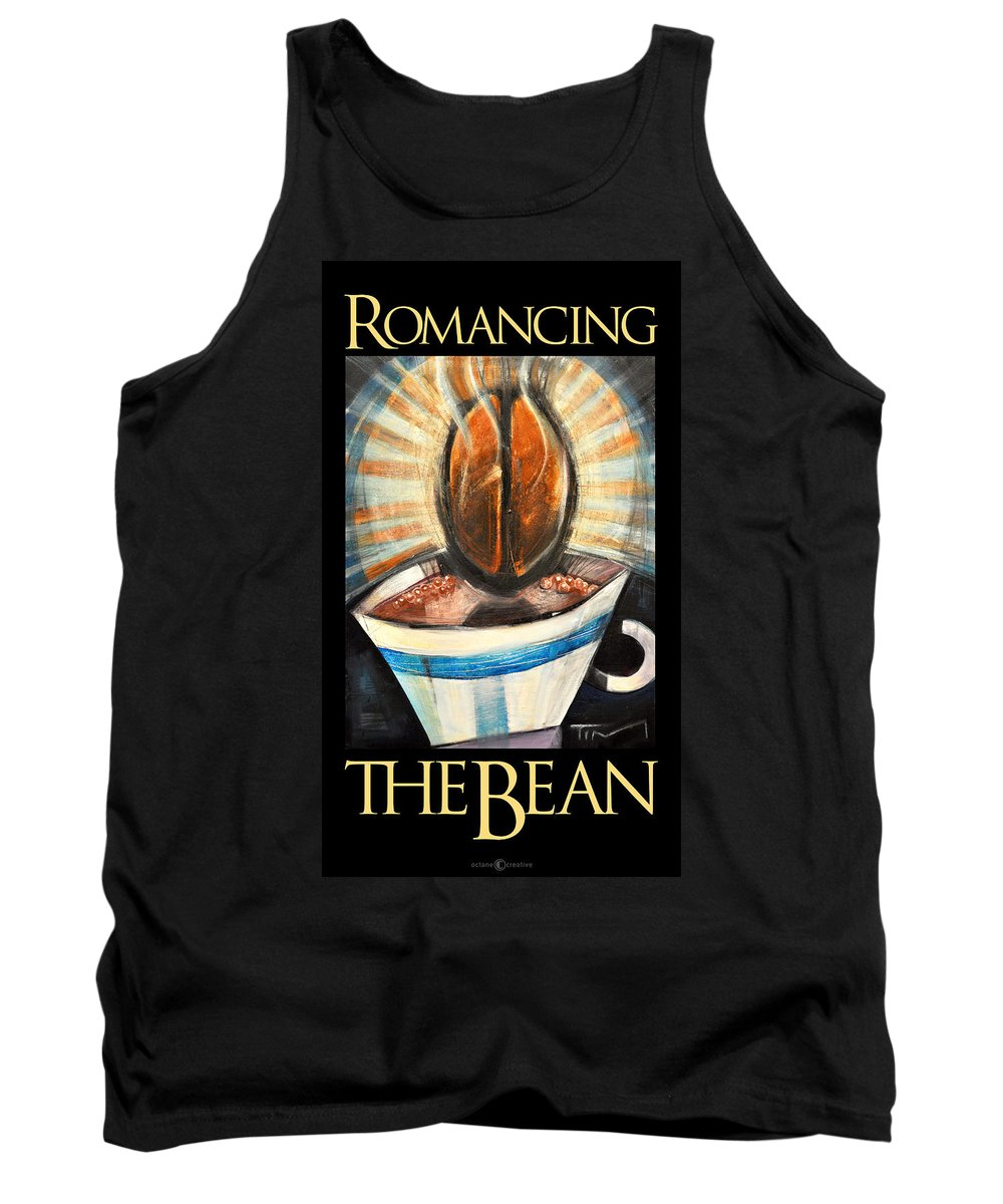 Java Tank Top featuring the painting Romancing The Bean Poster by Tim Nyberg