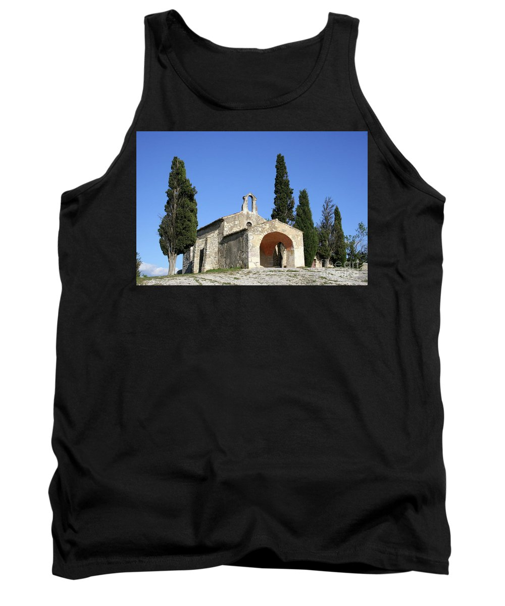 Chapel Tank Top featuring the photograph Romanesque Chapel Saint Sixte by Christiane Schulze Art And Photography
