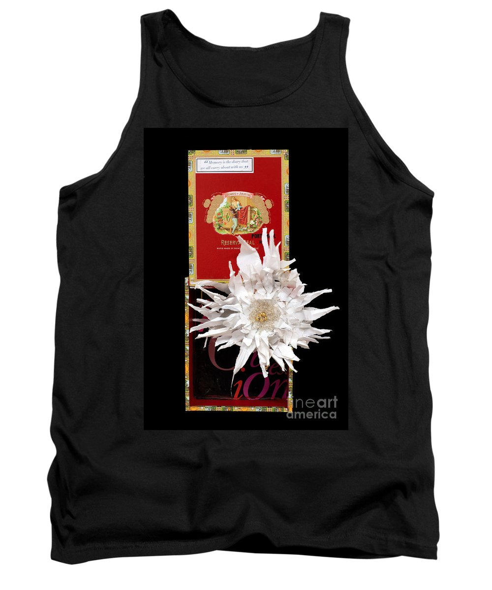 Cigar Box Tank Top featuring the mixed media Romeo And Julietta by Jaime Becker