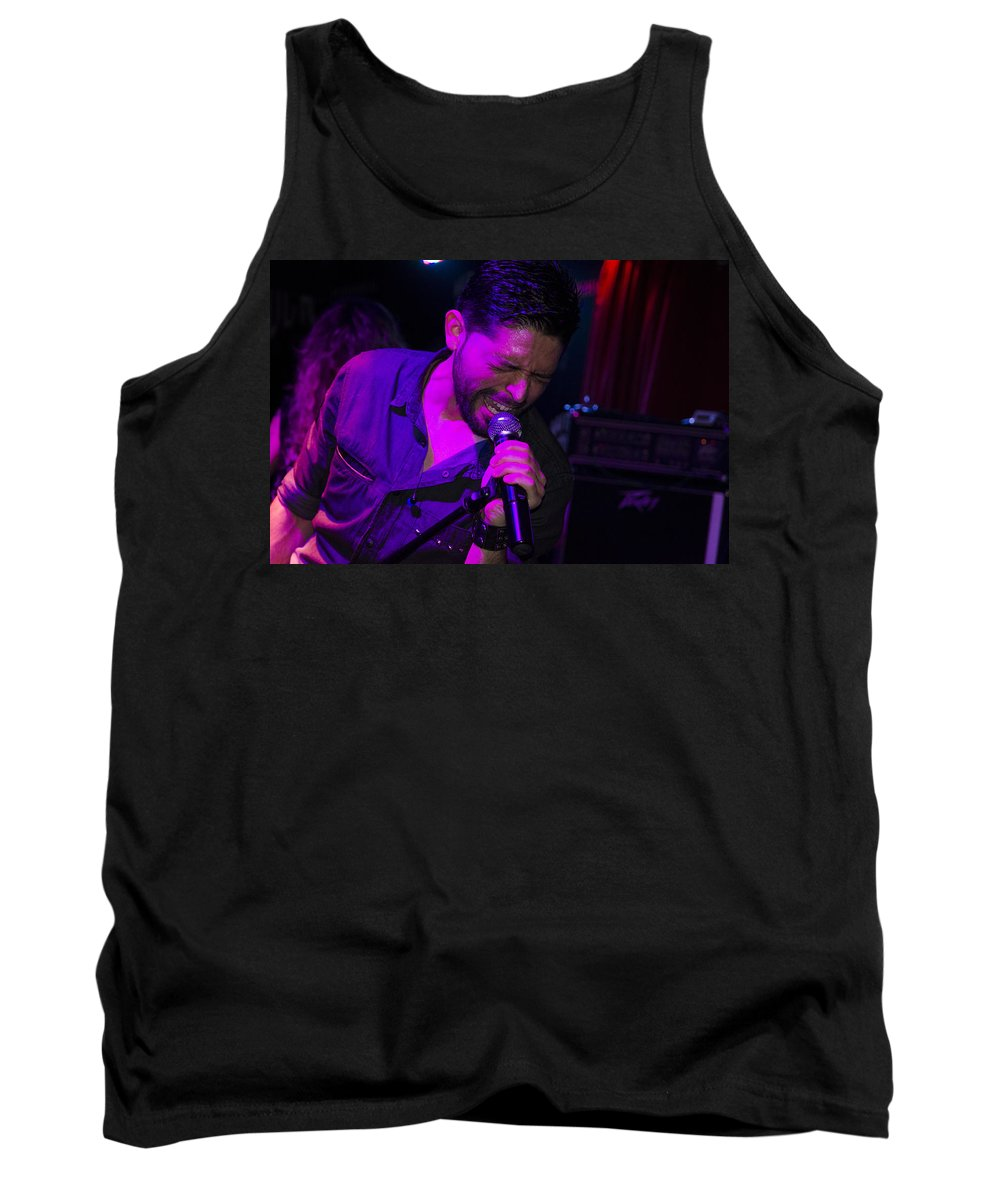 Ritchie Blackmore Tank Top featuring the photograph Ronnie Romero 20 by Pablo Lopez