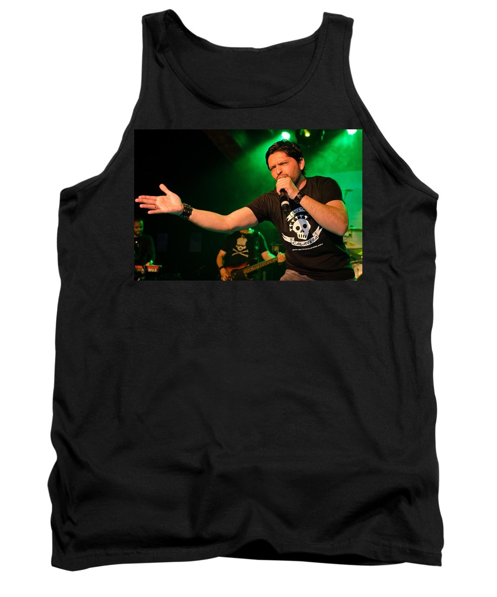 Ritchie Blackmore Tank Top featuring the photograph Ronnie Romero 46 by Pablo Lopez