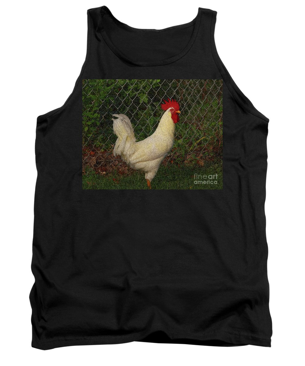 Rooster Tank Top featuring the photograph Rooster by Douglas Stucky