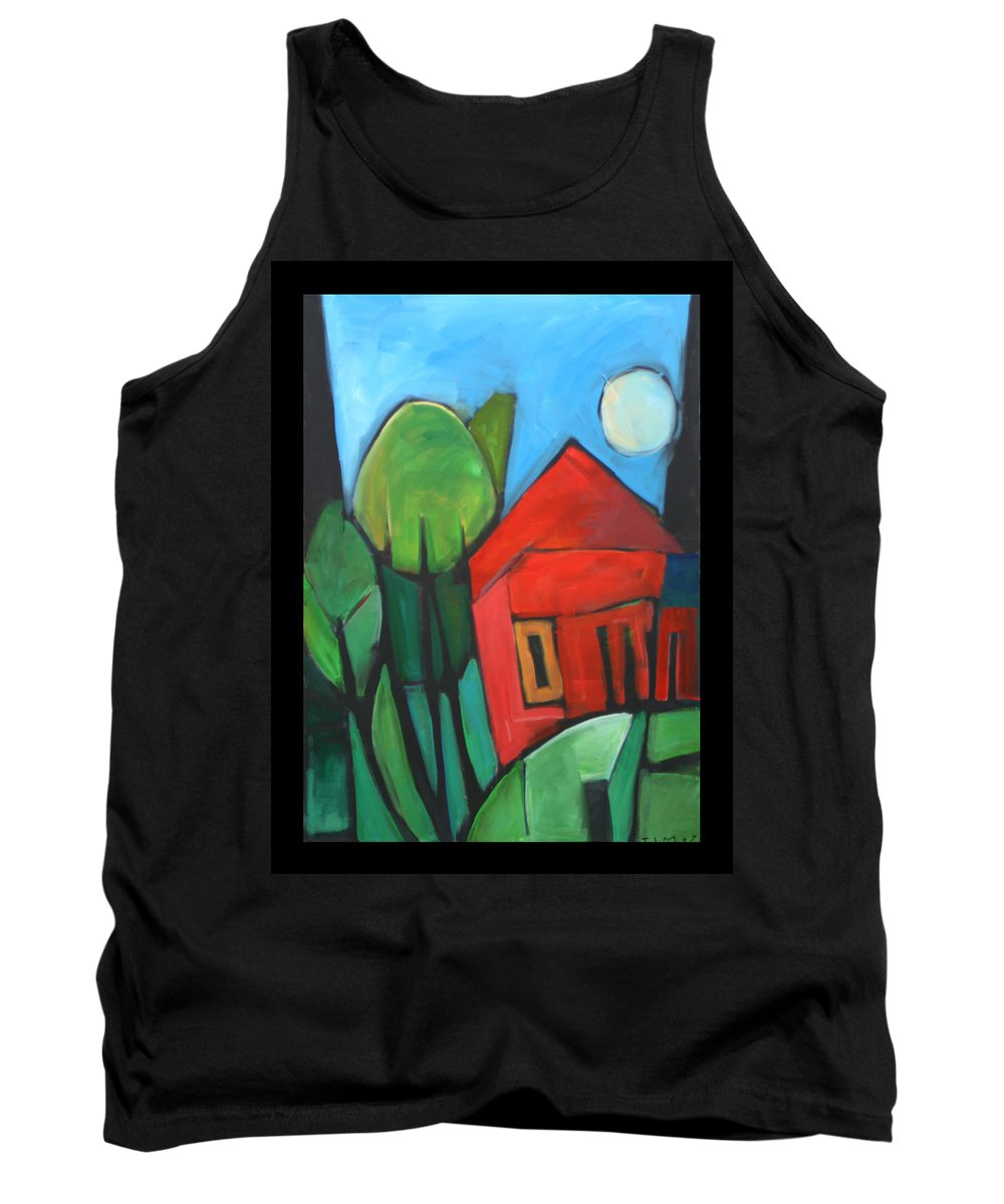 Trees Tank Top featuring the painting Root Cellar by Tim Nyberg