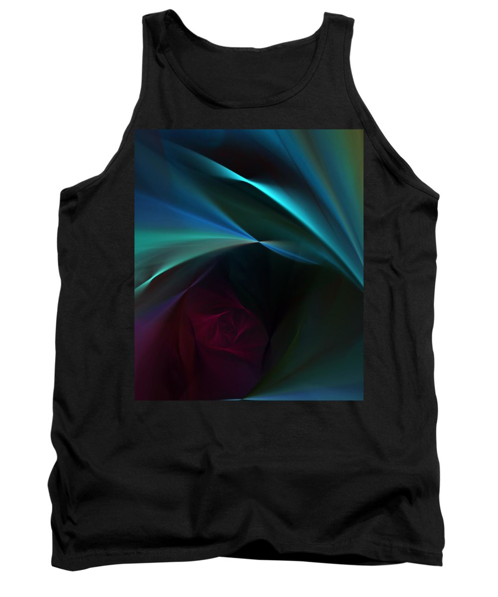 Digital Painting Tank Top featuring the digital art Rose And Satin by David Lane