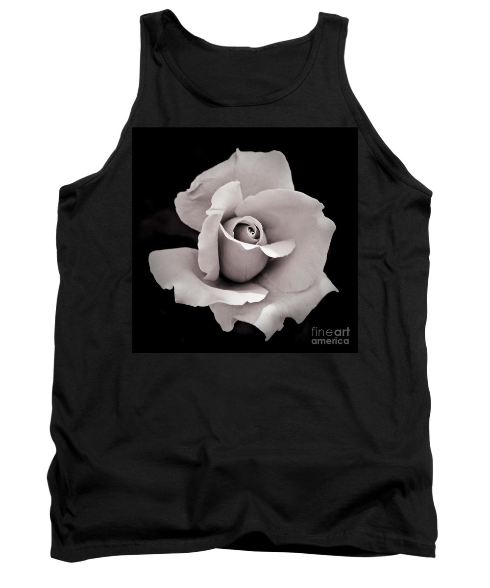 Black Tank Top featuring the photograph Rose by Hitendra SINKAR