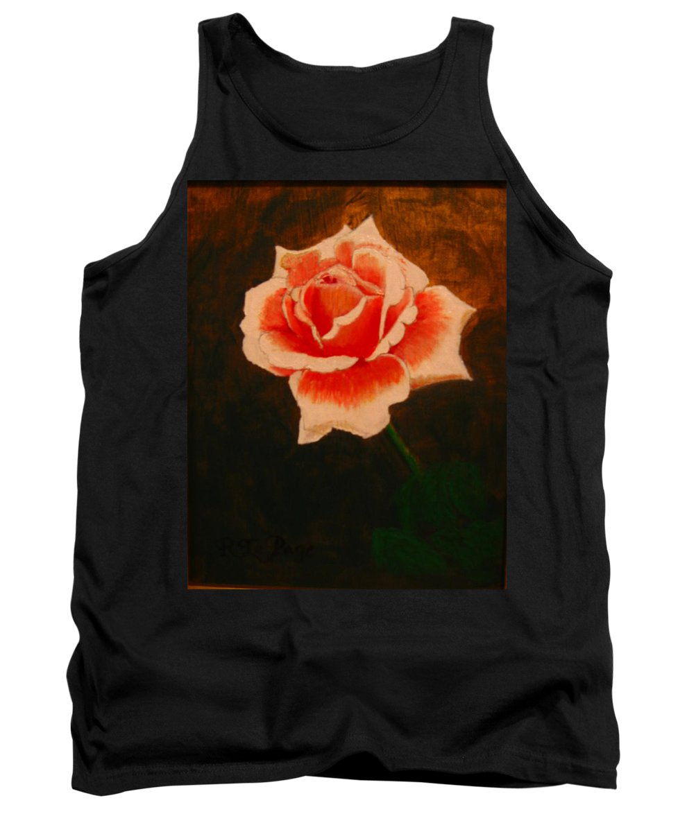Rose Tank Top featuring the painting Rose by Richard Le Page