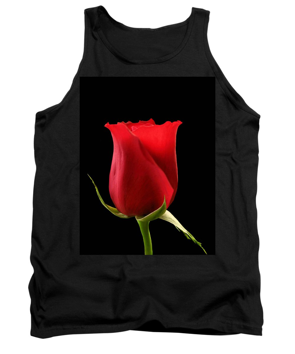 Rose Tank Top featuring the photograph Rosebud by Kristin Elmquist