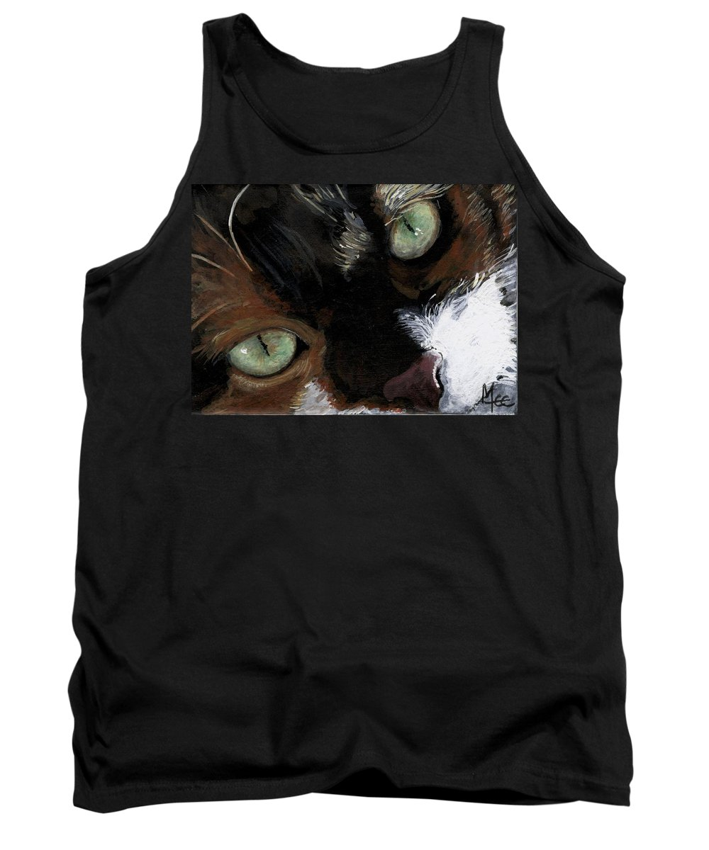 Charity Tank Top featuring the painting Rosie by Mary-Lee Sanders