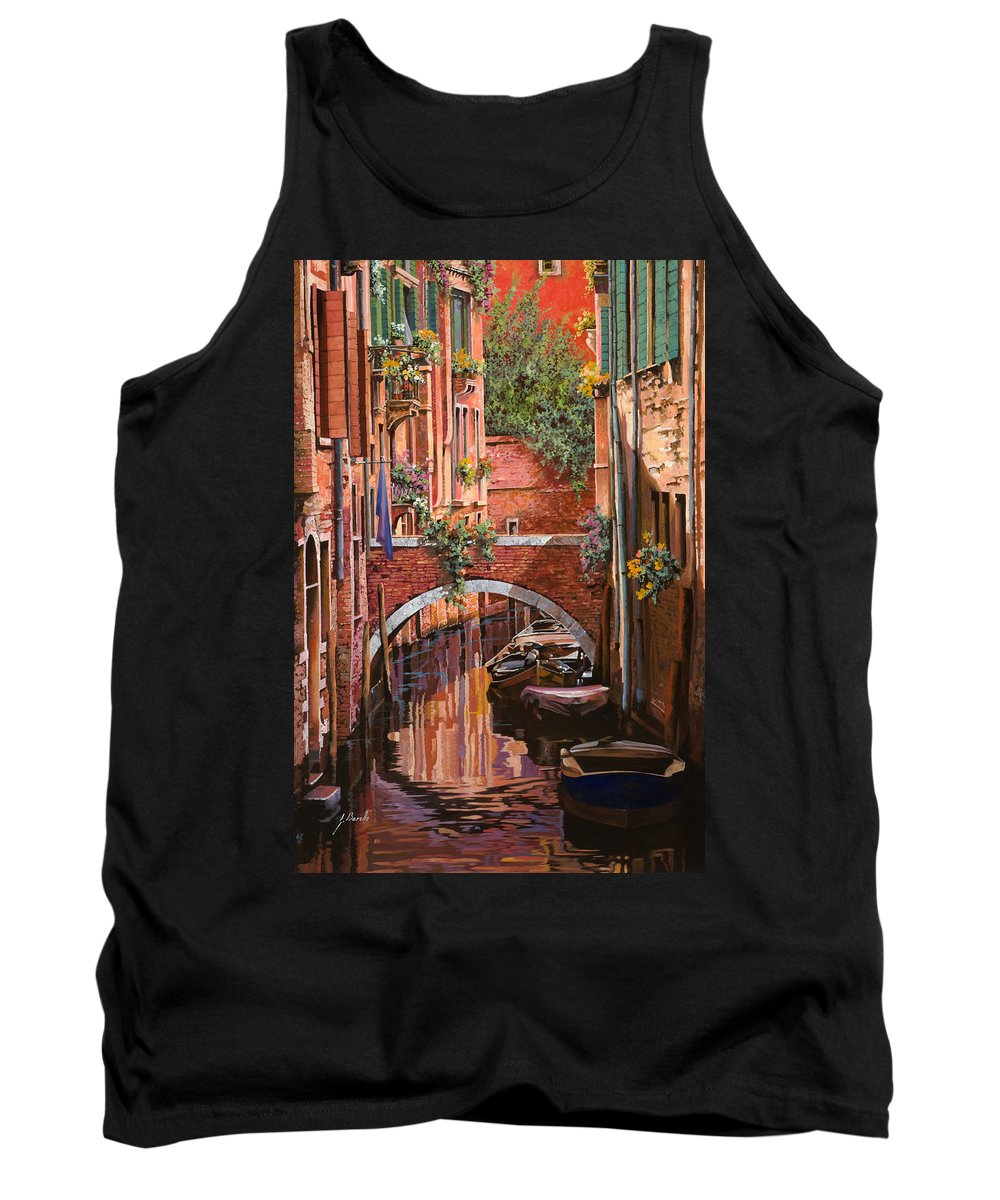 Venice Tank Top featuring the painting Rosso Veneziano by Guido Borelli