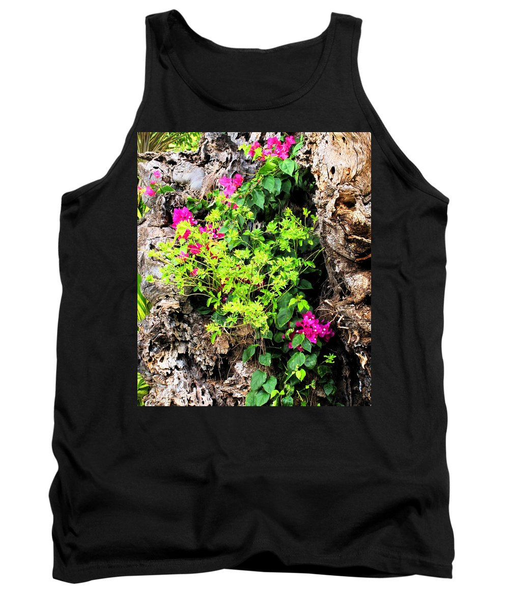 Flowers Tank Top featuring the photograph Rough Beauty by Ian MacDonald