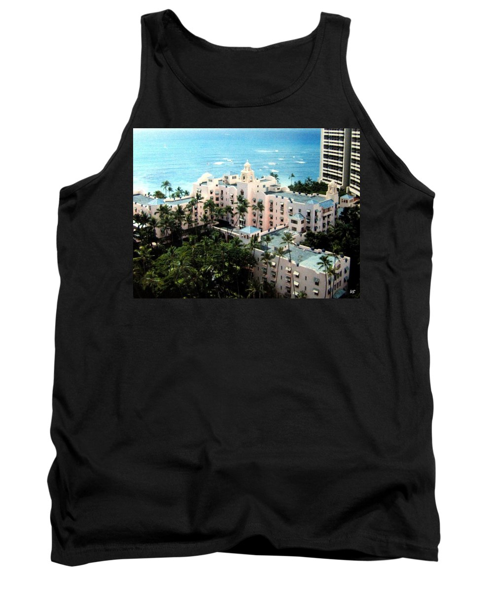 1986 Tank Top featuring the photograph Royal Hawaiian Hotel by Will Borden