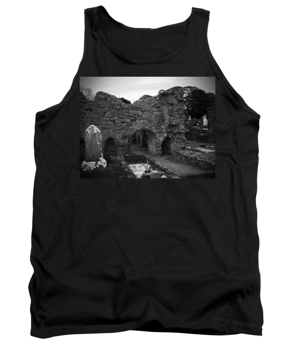 Irish Tank Top featuring the photograph Ruins At Donegal Abbey Donegal Ireland by Teresa Mucha