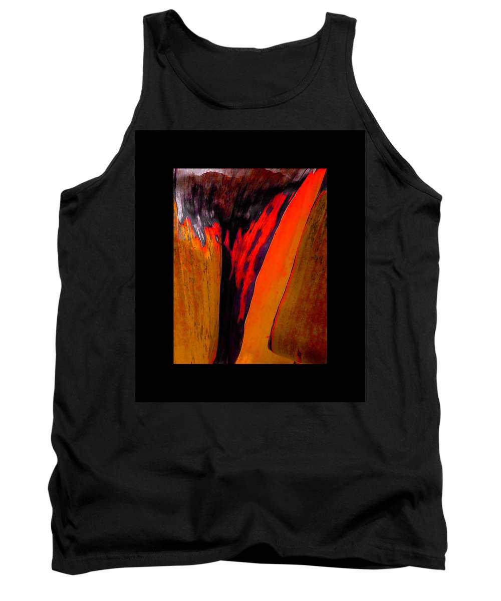 Contemporary Tank Top featuring the painting Running Red by Stephen Anderson