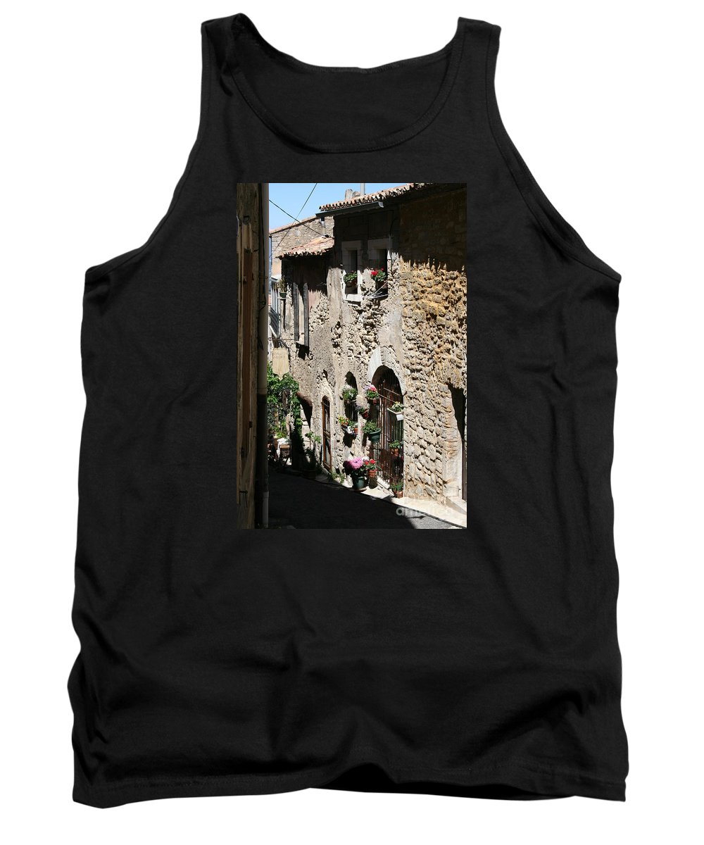 Alley Tank Top featuring the photograph Rustic Provence Alley by Christiane Schulze Art And Photography