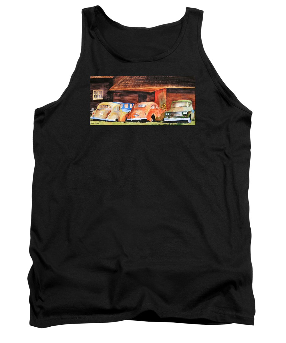 Car Tank Top featuring the painting Rusting by Karen Stark