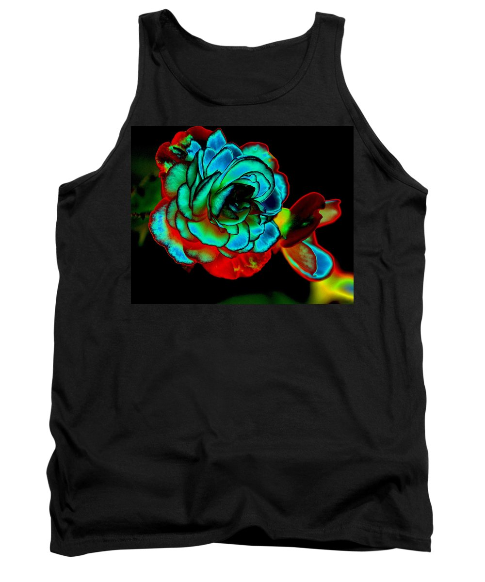 Photo Art Tank Top featuring the photograph Sacred Rose by Ben Upham III