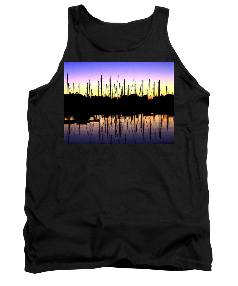 Sailboats Tank Top featuring the photograph Safe Haven by Will Borden