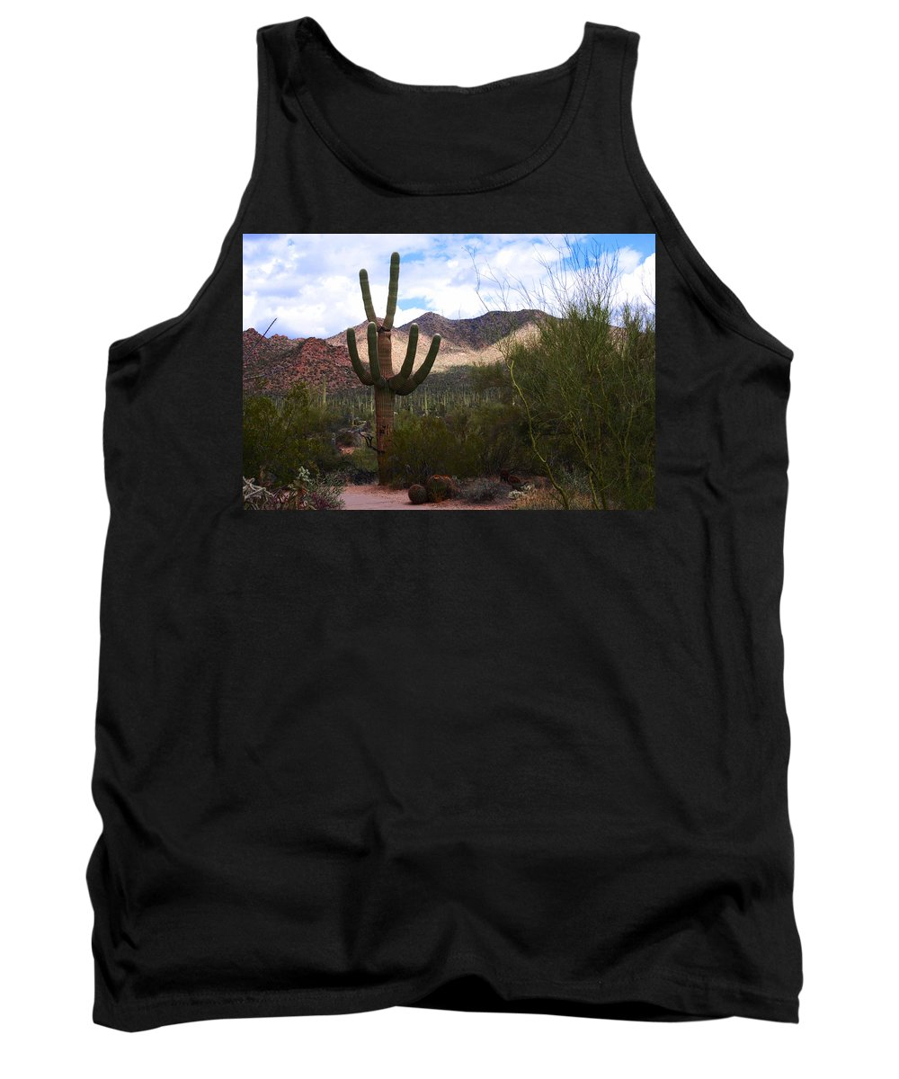 Photography Tank Top featuring the photograph Saguaro National Park by Susanne Van Hulst