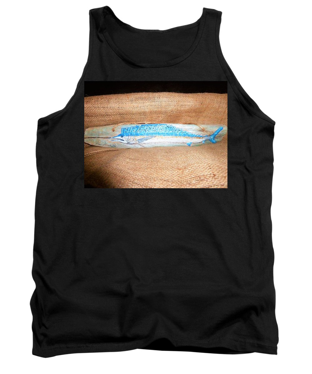 Sail Fish Tank Top featuring the mixed media Sail Fish by Ann Michelle Swadener