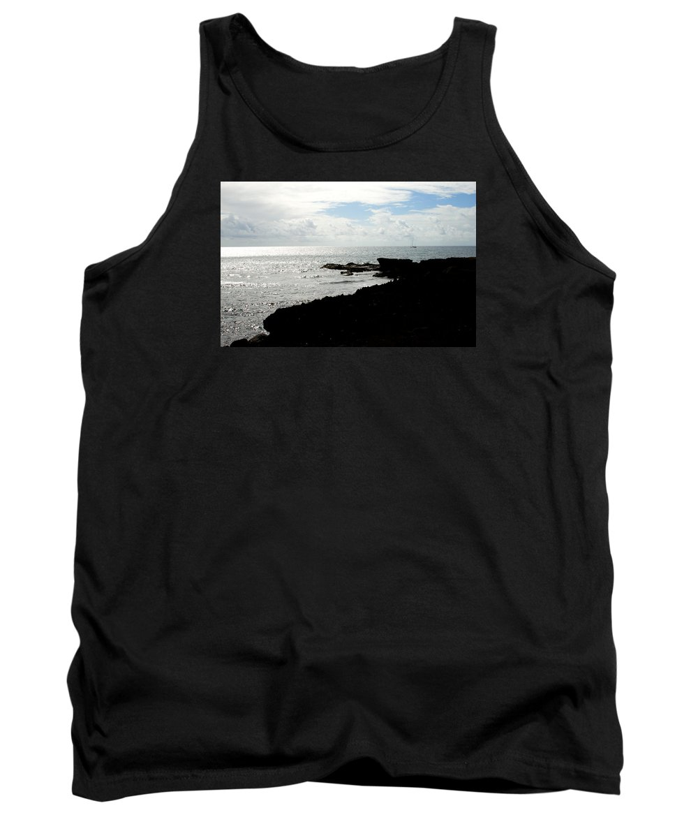 Sailboat Tank Top featuring the photograph Sailboat At Point by Jean Macaluso
