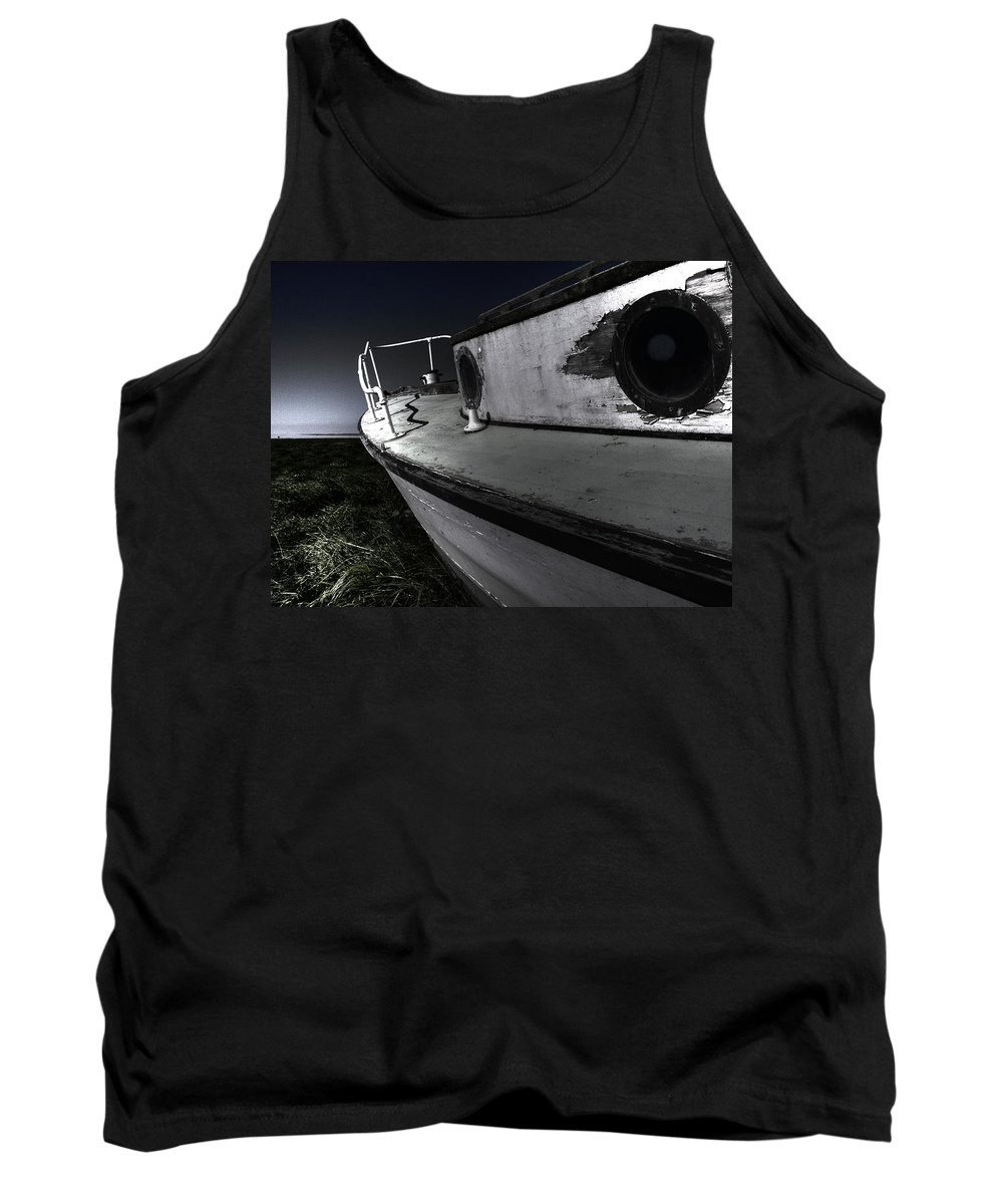 Sailing Tank Top featuring the photograph Sailing Land by Kelly Jade King