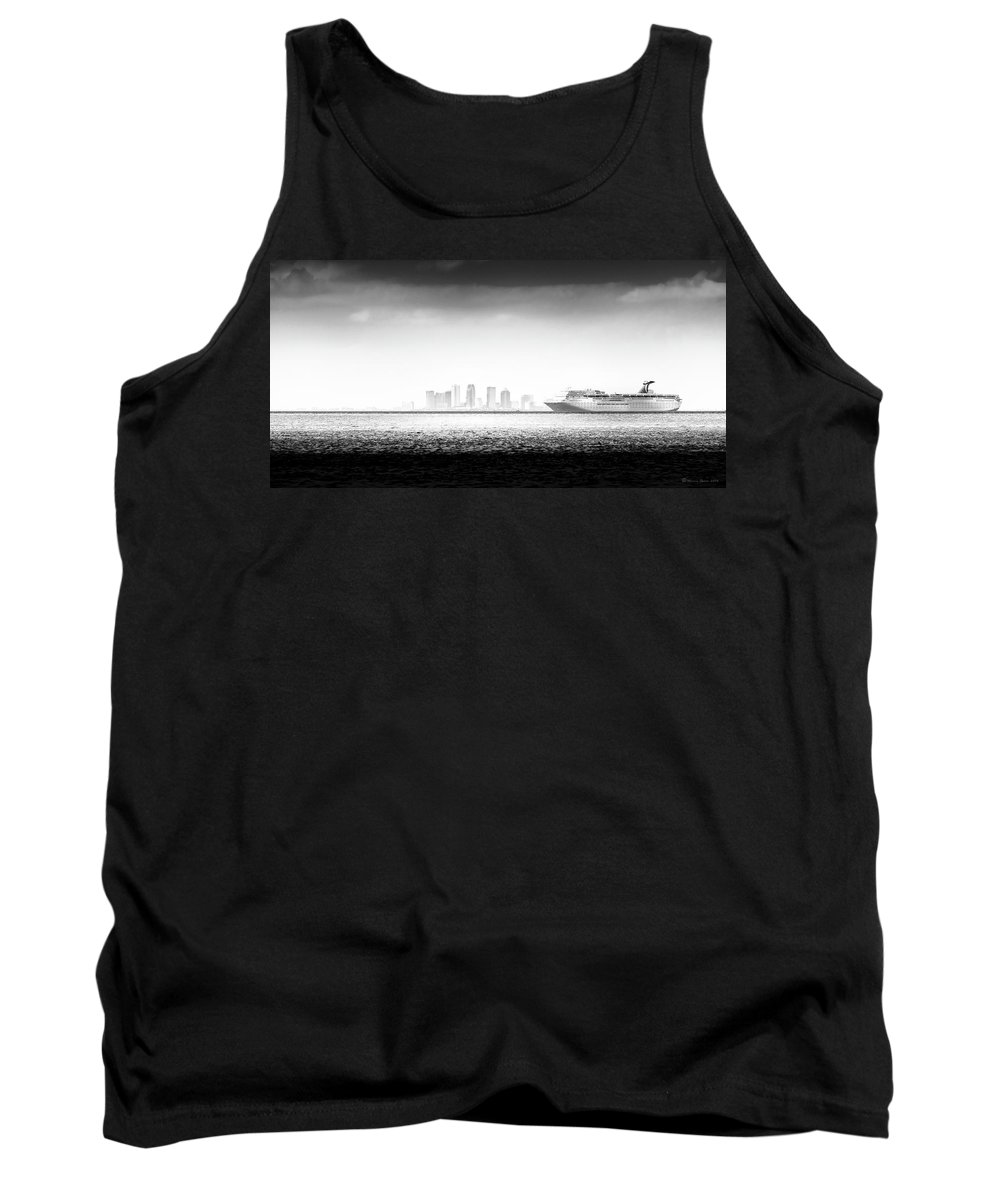Cruise Tank Top featuring the photograph Sailing Out Of Cigar City by Marvin Spates